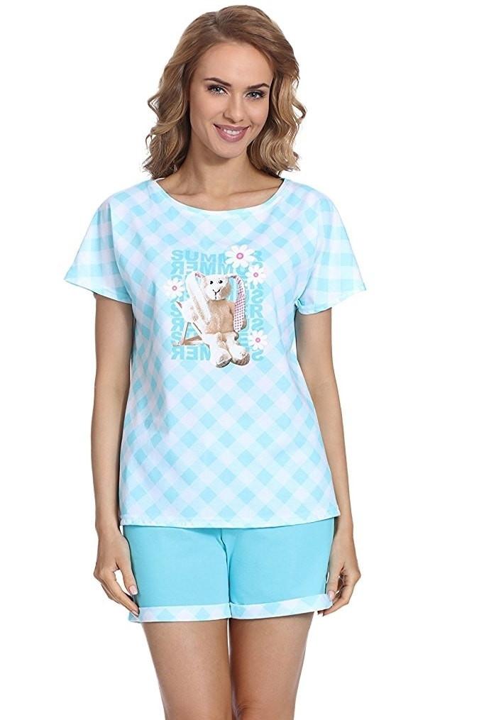 Dámské pyžamo 675/69 - Cornette Barva: tyrkysová, Velikost: XL