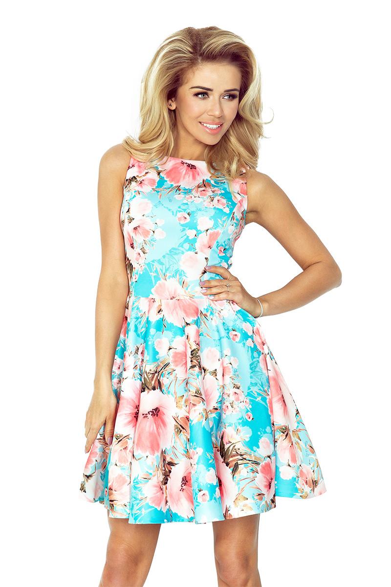 8db950ed12b Dámské šaty 125-15 - Numoco květinový vzor XS