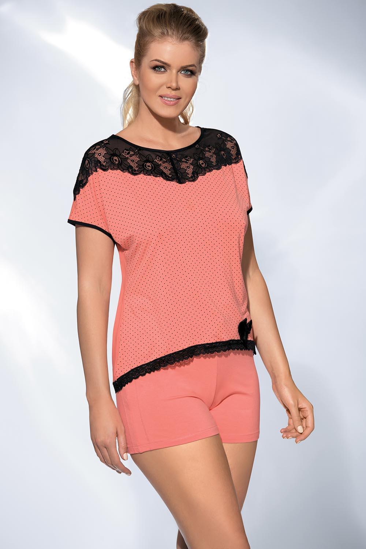 Dámské pyžamo PJ-17 - Ava Barva: apricot, Velikost: L
