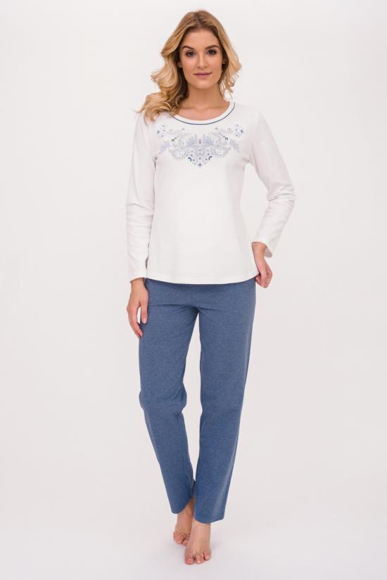 Dámské pyžamo 390 - Cana Barva: bílo/modrá, Velikost: XL