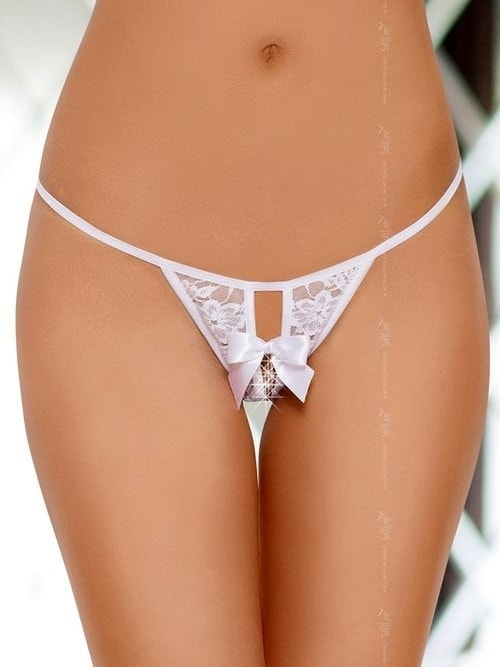Dámské erotické tanga 2426 - SoftLine Barva: bílá, Velikost: S/L