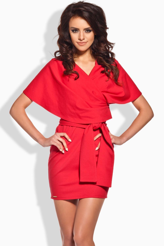 Dámské šaty L138 - Lemoniade Barva: červená, Velikost: M