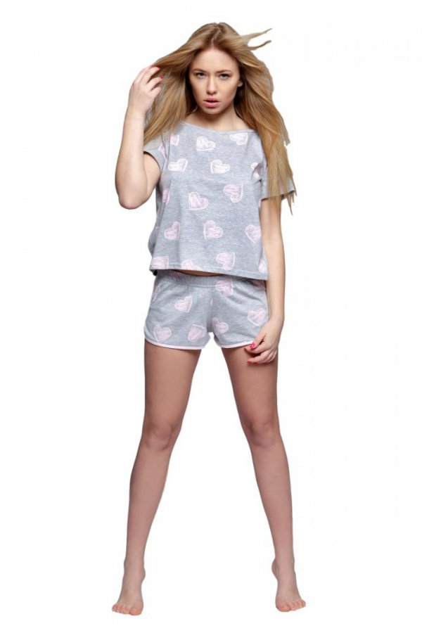 Dámské pyžamo Ida - Sensis Barva: šedo-růžová, Velikost: XL