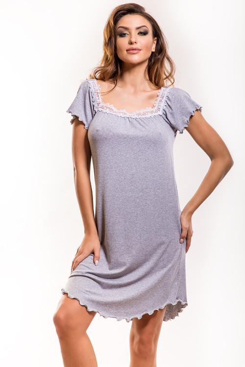 Dámská noční košilka Sofite - Hamana Barva: šedá melange, Velikost: M