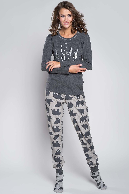 Dámské pyžamo Arctic - Italian Fashion Barva: šedo-černá, Velikost: S