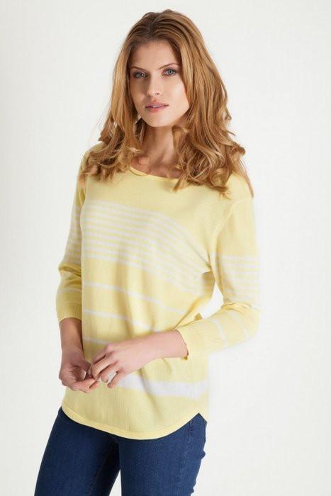 Dámský svetřík 80641 - Greenpoint Barva: žlutá, Velikost: 40