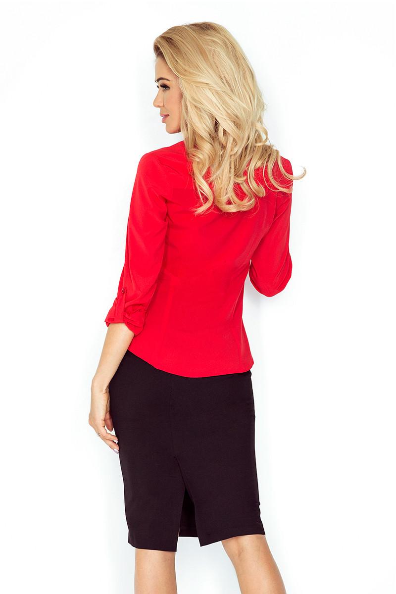 Dámská košile 017-1 Morimia Barva: červená, Velikost: S