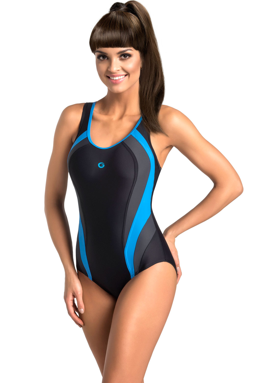 Dámské jednodílné plavky Power III - Gwinner Barva: černo-modrá, Velikost: 38
