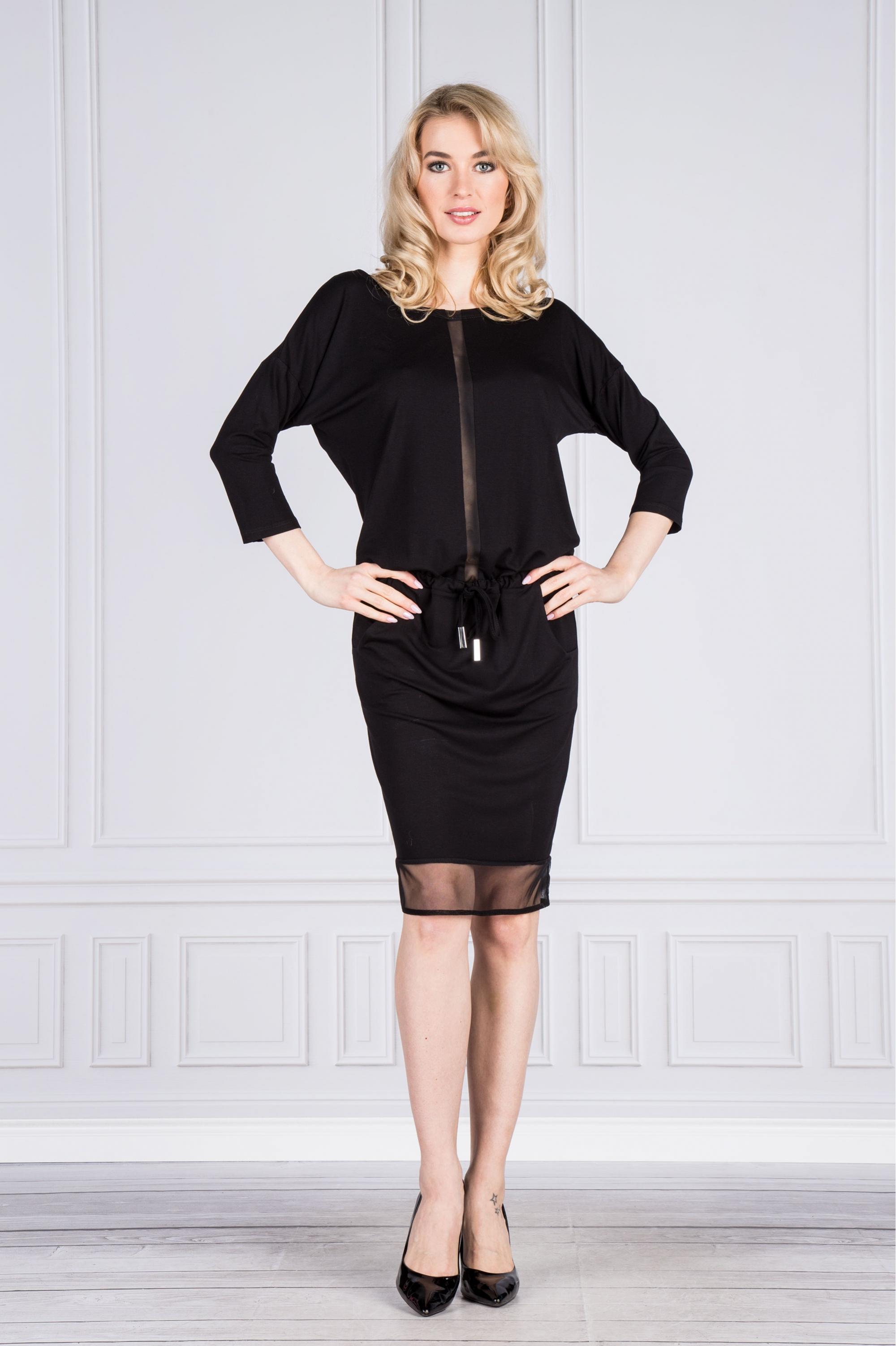 Dámské šaty M45233 - BERGAMO Barva: černá, Velikost: S