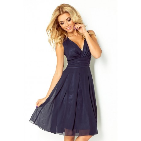 Dámské šaty 35-5 - Numoco Barva: granátová, Velikost: S