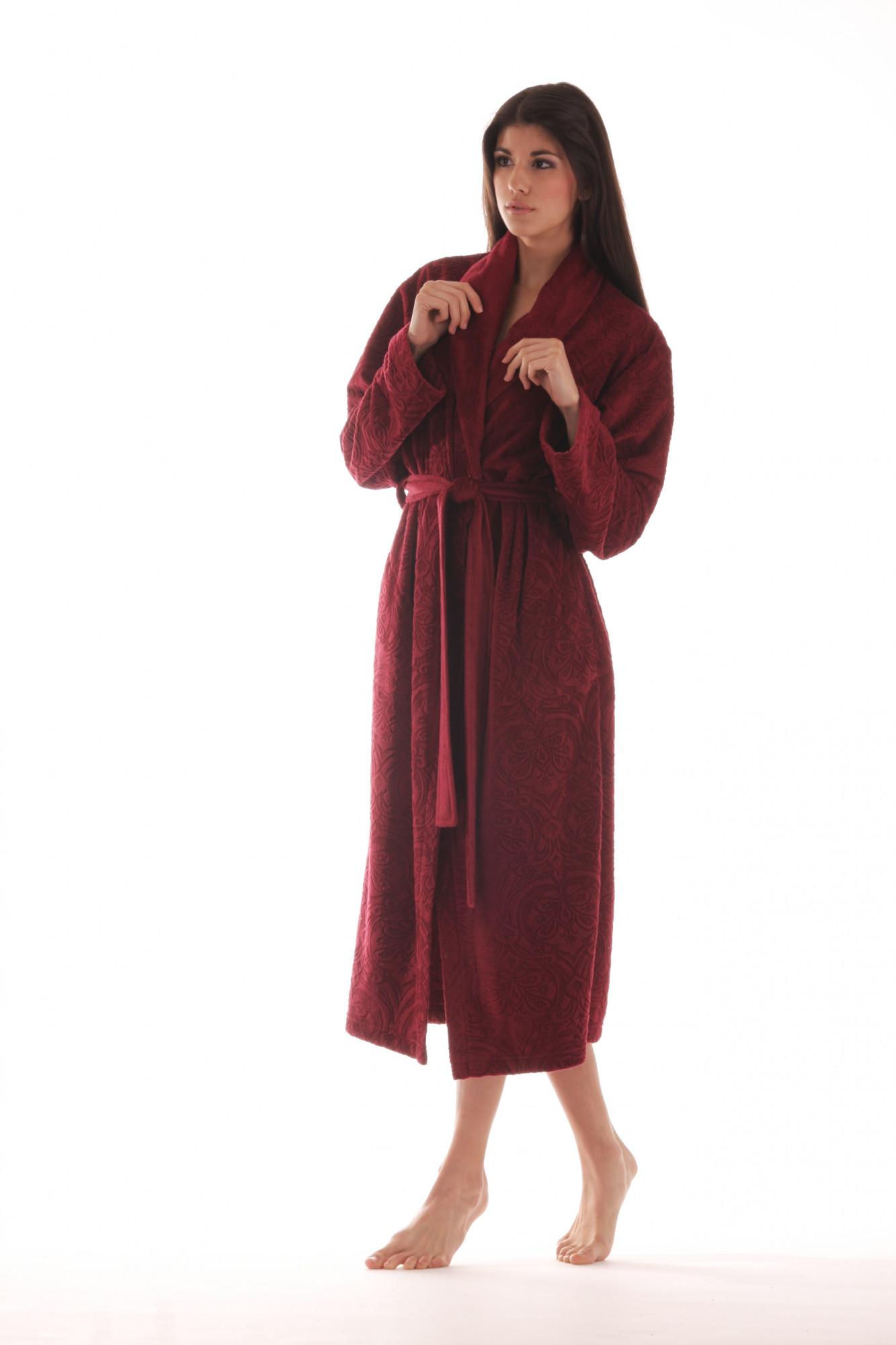 Dámský župan 21474300 - Vestis Barva: fialová, Velikost: XL