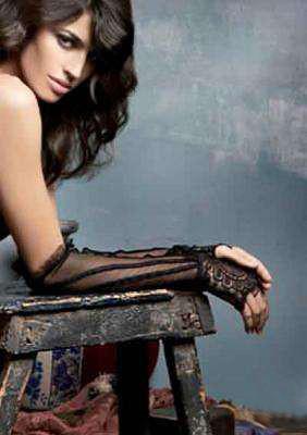 Plesové rukavice 5114 - Luna Barva: černá, Velikost: uni