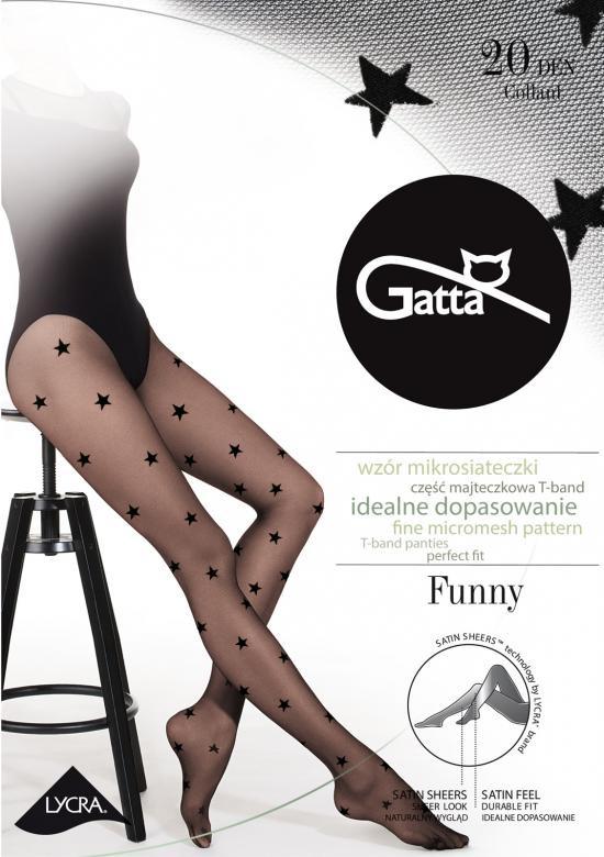 Punčochové kalhoty Funny nr 06 20 den Gatta Barva: černá, Velikost: 3-M