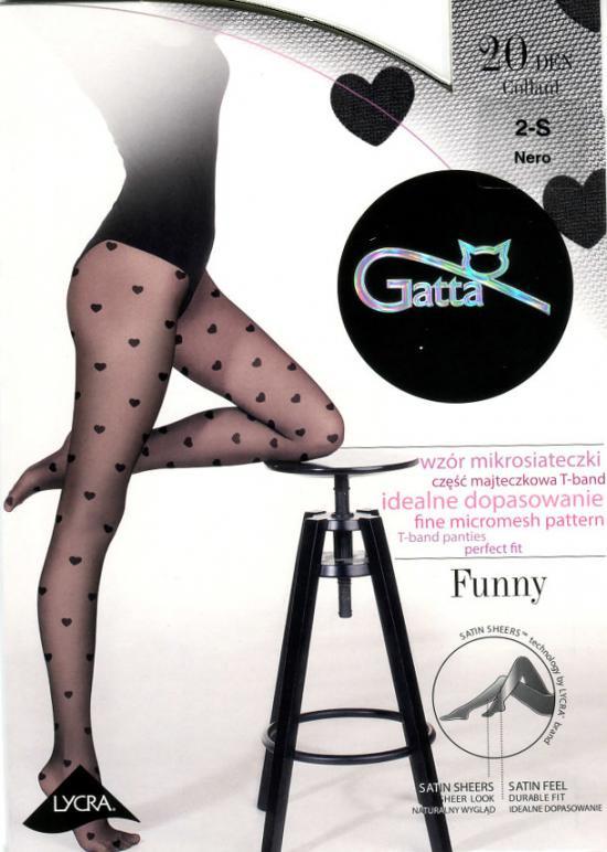 Punčochové kalhoty Funny nr 08 20 den Gatta Barva: černá, Velikost: M