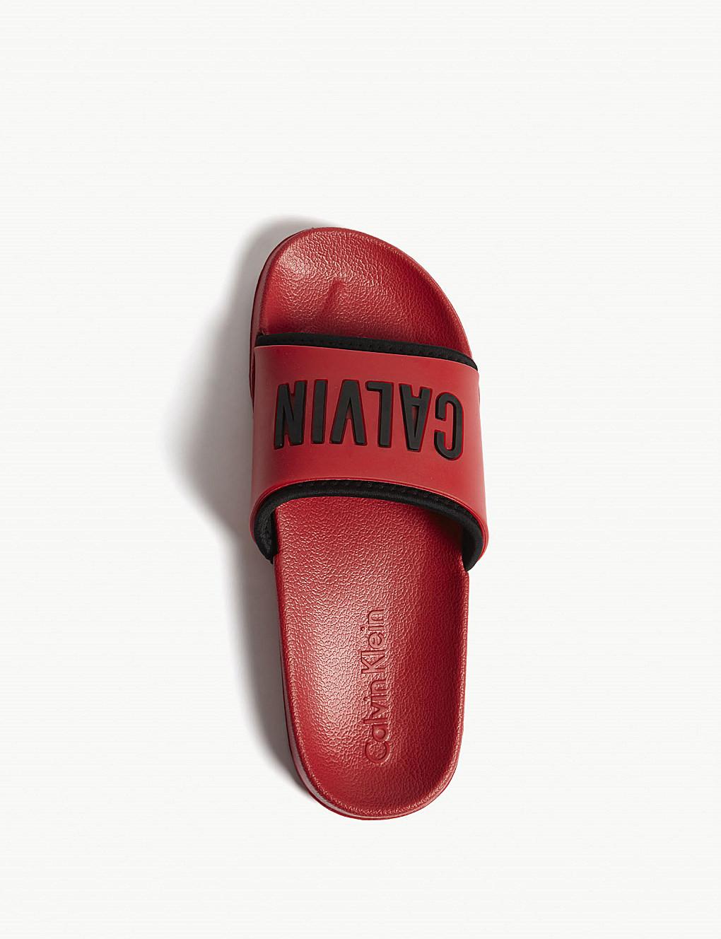 Pantofle K9UK014044-622 červená - Calvin Klein Barva: červená, Velikost: 37/38