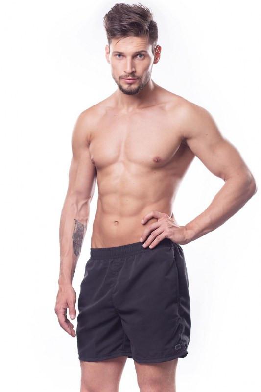 Pánské sportovní plavky šortky - Shepa Barva: černá, Velikost: L