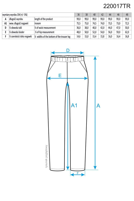 Dámské kalhoty 220017 Ennywear Barva: černá, Velikost: 48