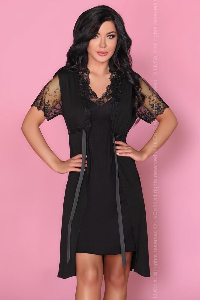 Krásný komplet Zorda - LivCo Corsetti Barva: černá, Velikost: S/M