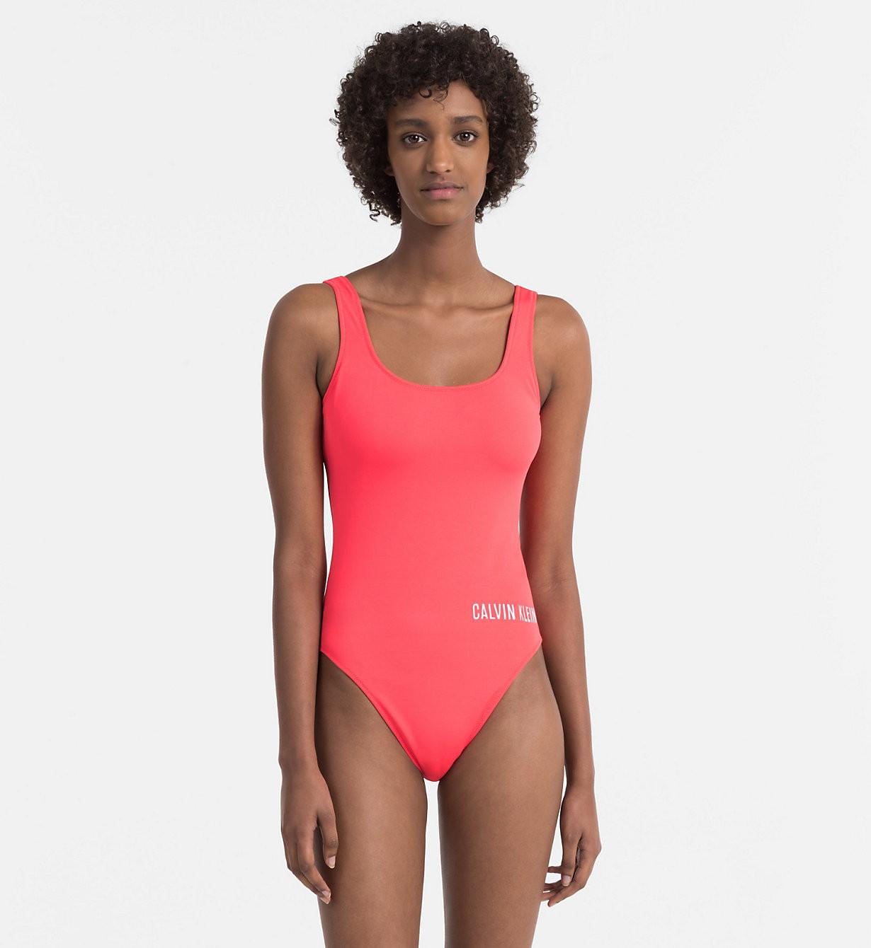 Jednodílné plavky KW0KW00293-044 červená - Calvin Klein Barva: červená, Velikost: M