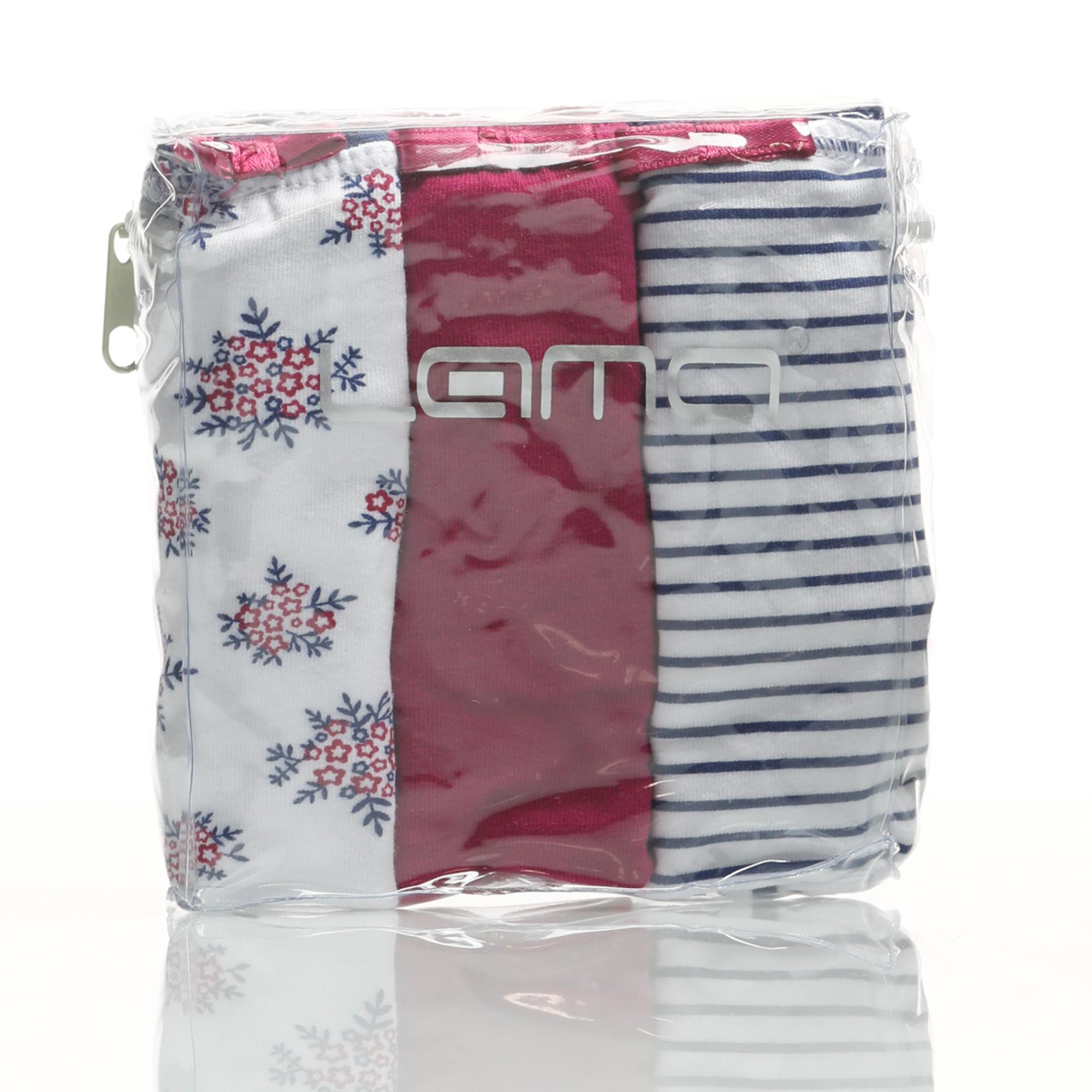 Dámské kalhotky L-103 MB-11, 3 balení - Lama bílo/červená/modrá XL