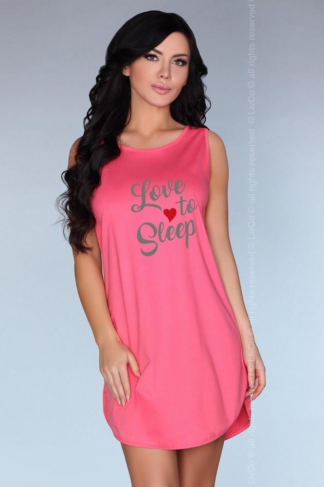 Dámská noční košilka Calogera - LivCo Corsetti Barva: růžová, Velikost: L/XL
