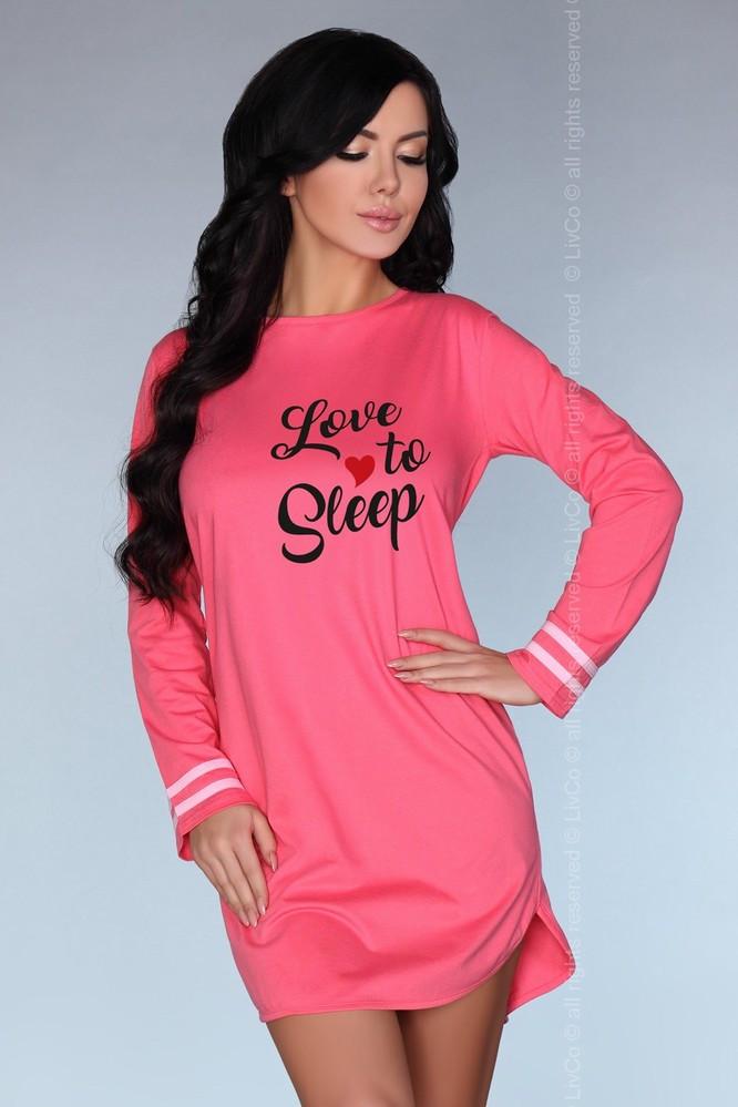 Dámská noční košilka Cayani - LivCo Corsetti Barva: růžová, Velikost: S/M