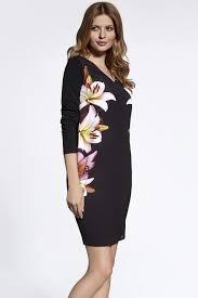 Dámské šaty 200048 - Ennywear Barva: černá s květy, Velikost: 42