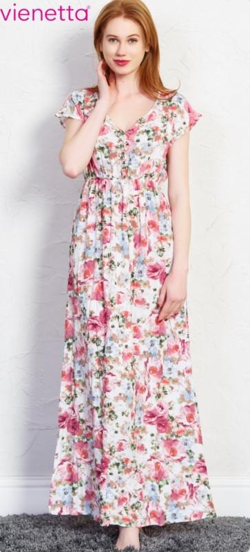 17517ce6bc91 Dámské šaty Kate 5964 - Vienetta bílá s květinovým vzorem L