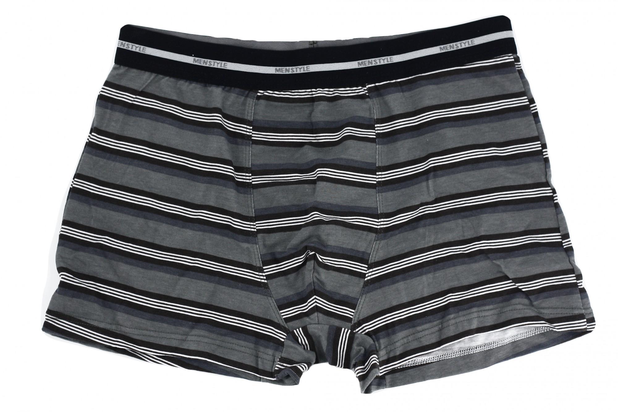 Pánské boxerky 1BE-483 - Redo Barva: šedá s proužkem, Velikost: XL