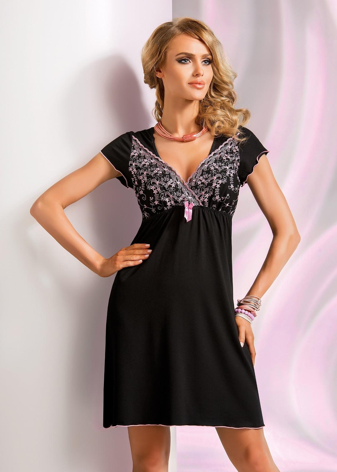 Dámská noční košilka Ines - Donna Barva: černá, Velikost: XL-42