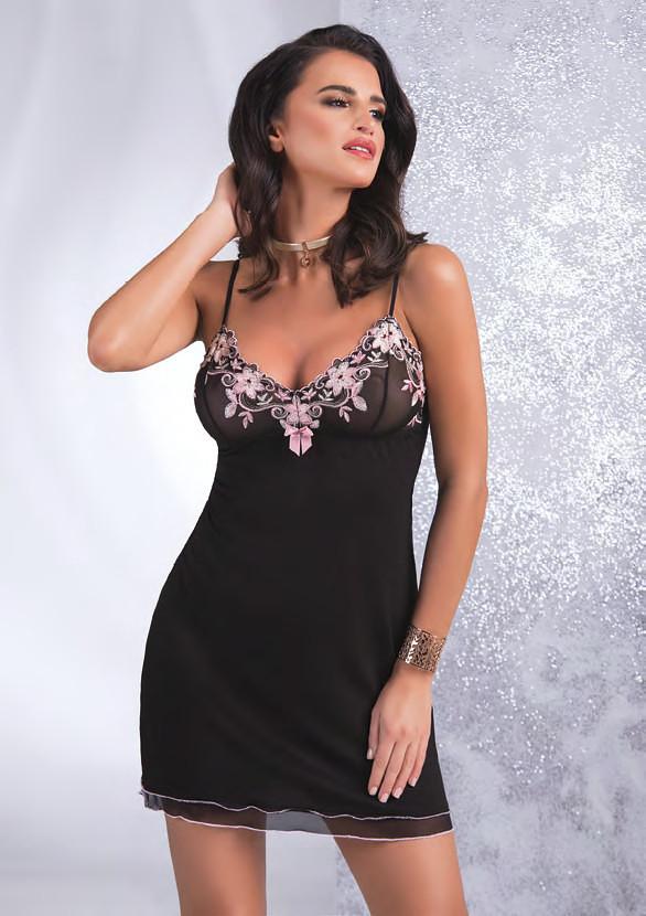 Dámská noční košilka Kylie - Donna Barva: černá, Velikost: XL-42