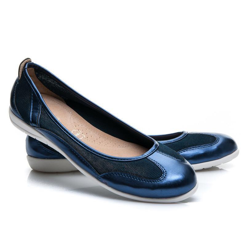 Dámské baleríny Y607N / S2 - Vices Barva: tmavě modrá, Velikost: 38