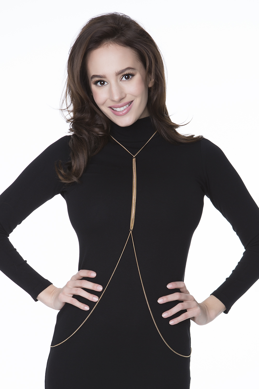 Elegantní ozdobný řetízek Body Bijoux Holly Julimex Barva: zlatá, Velikost: uni