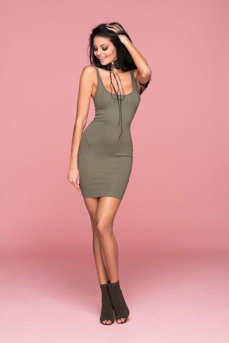Šaty Kim Sexy Dress - ChickChick tm. béžová M 5e1ded388d4