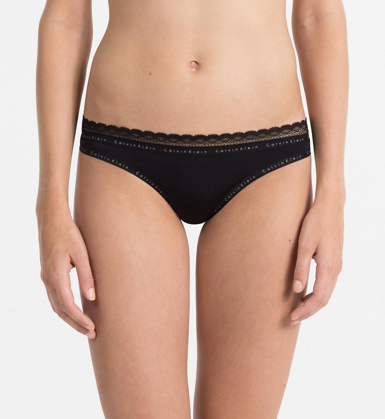 Tanga QF1420E černá - Calvin Klein černá S