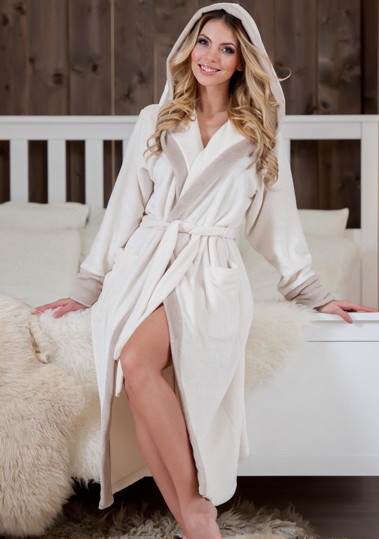 Dámský župan Laura Fantasy Barva: béžová-krémová, Velikost: XL