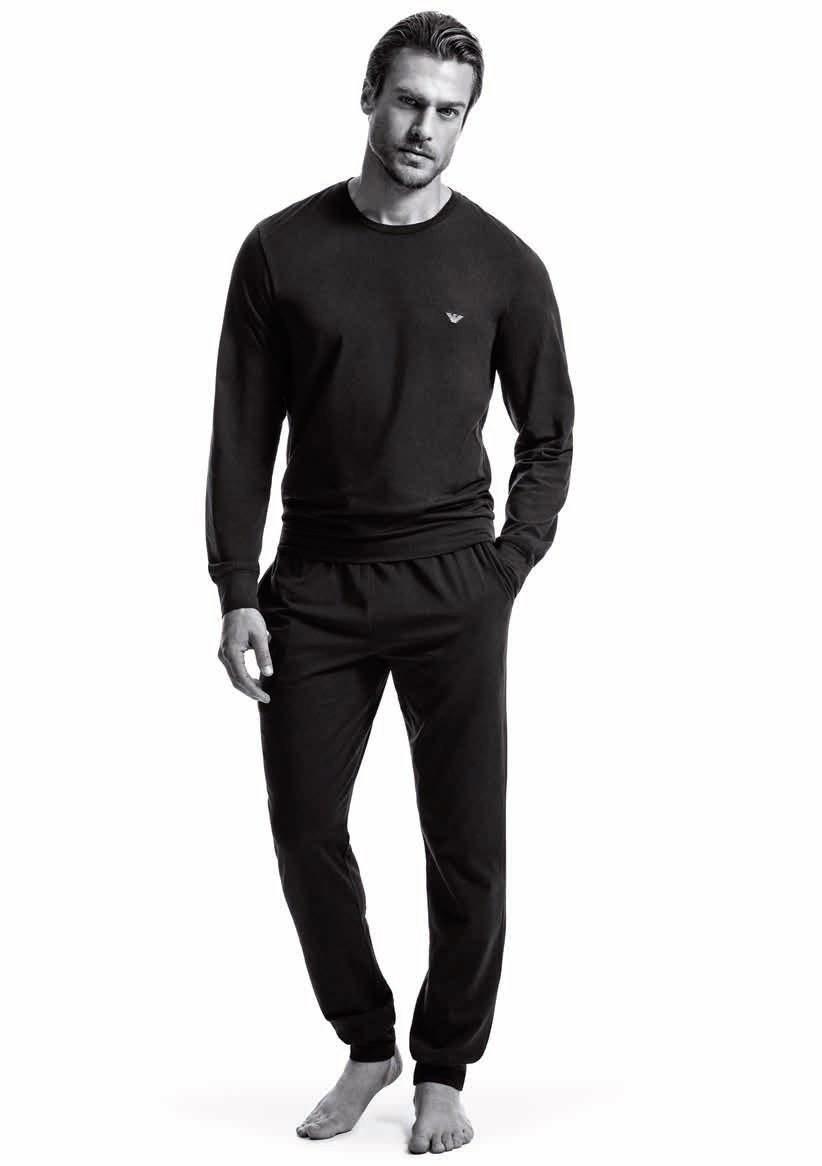 Pánské pyžamo 111794 CC570 00020 černá - Emporio Armani černá S