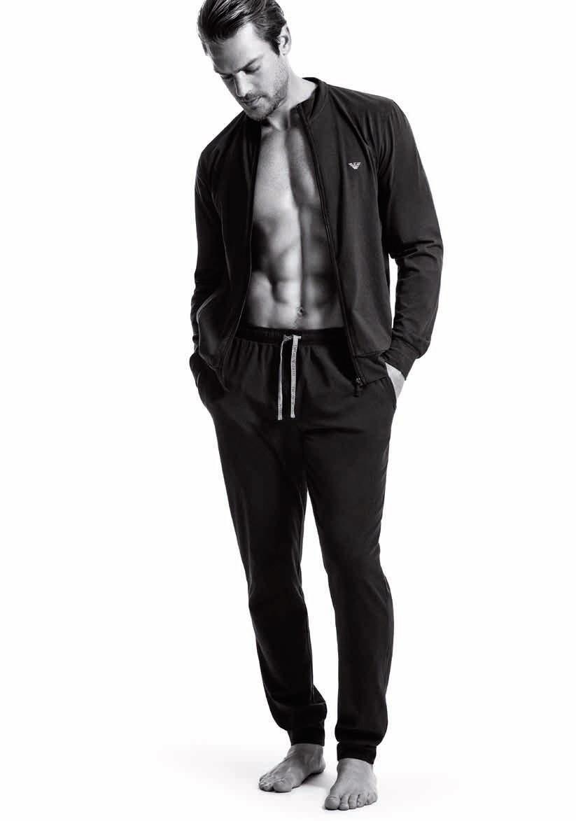 Pánské pyžamo 111795 CC570 00020 černá - Emporio Armani černá S
