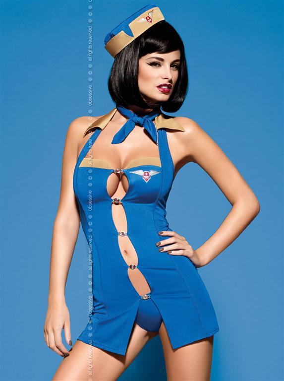 Sexy kostým Air Hostess - Obsessive Barva: dle obrázku, Velikost: L/XL