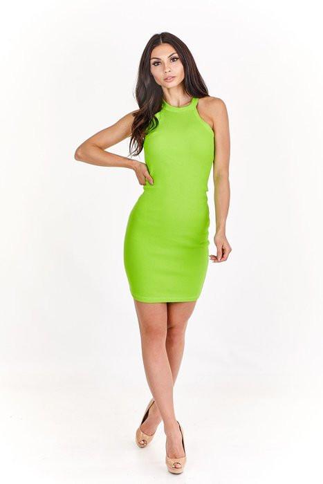 Dámské šaty M57053 - INLOVE zelená S