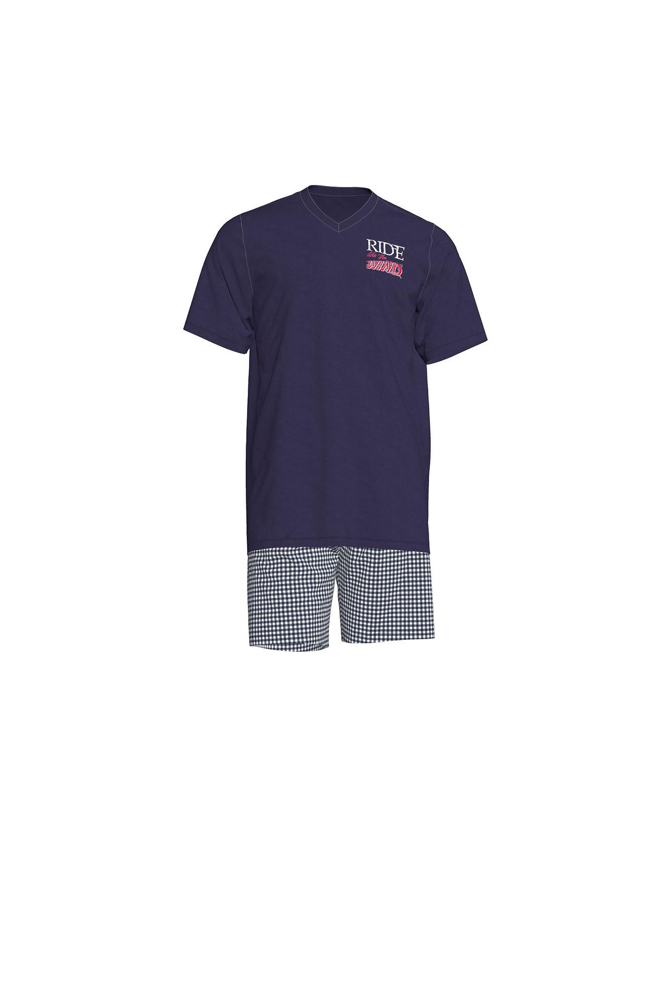 Pánské pyžamo 00-17-7515 - Vamp tmavě modrá L