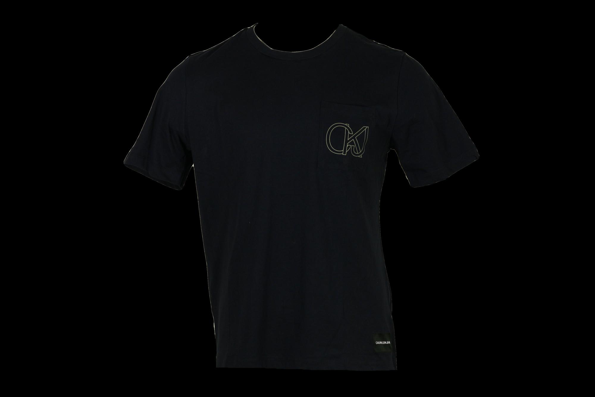 Pánské tričko OU48 tmavě modrá - Calvin Klein tmavě modrá S