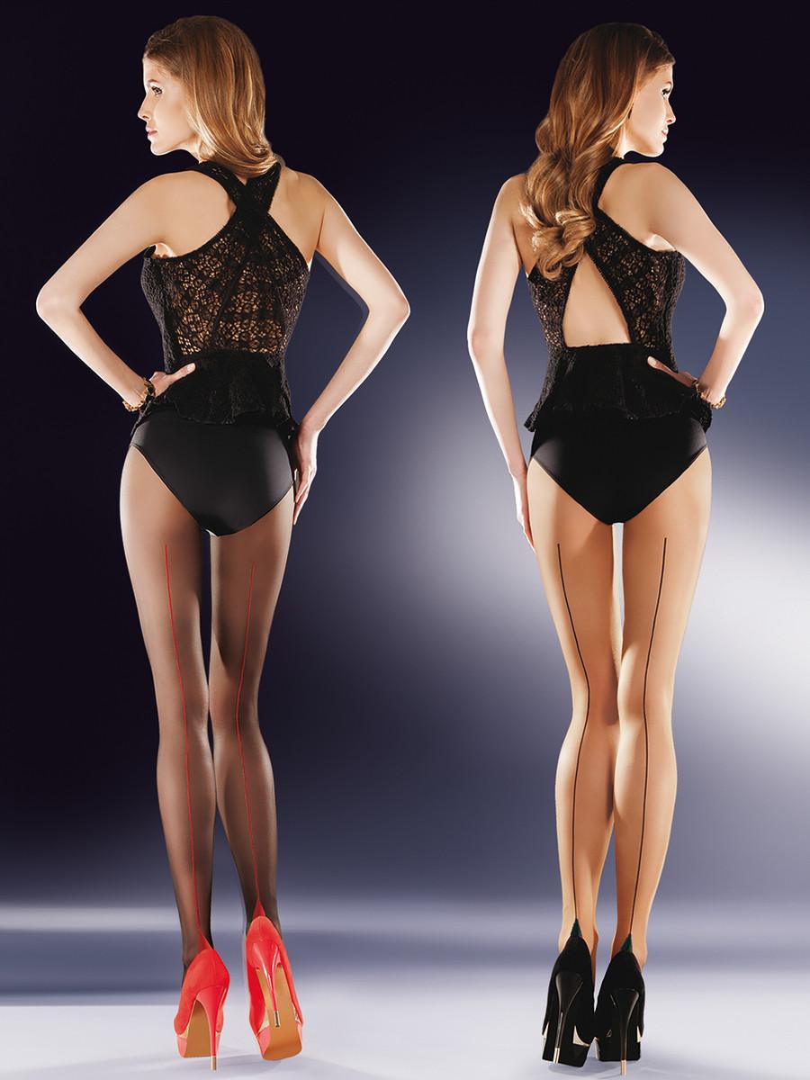 Punčochové kalhoty Bella 434 - Gabriella černo-červená 3
