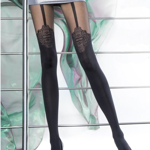 Dámské punčochové kalhoty Malaga 5588 - Fiore černá 4-L