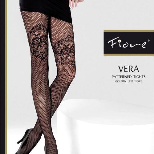 Dámské punčochové kalhoty Vera 5208 - Fiore černá 4-L