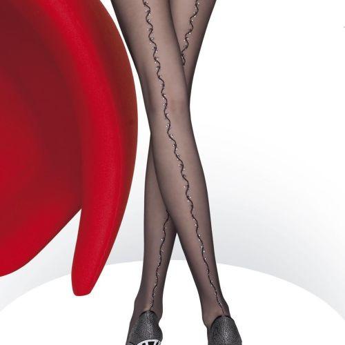 Dámské punčochové kalhoty Delana 5452 - Fiore černá 4-L