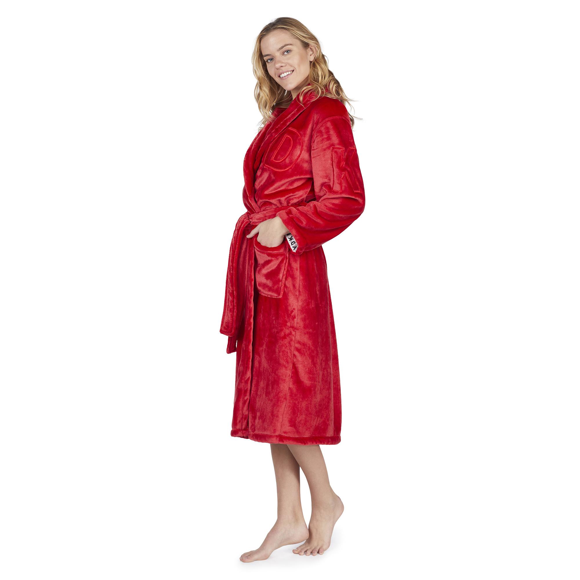 Dámský župan YI2019351F-600 červená - DKNY Barva: červená, Velikost: L