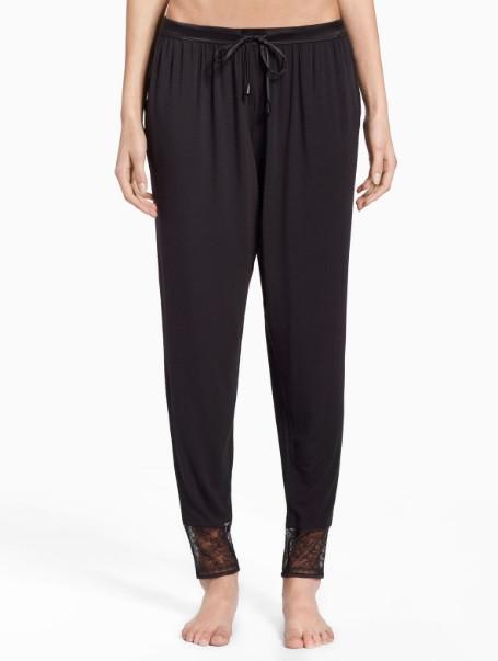 Dámské kalhoty na spaní QS6125E-001 černá - Calvin Klein Barva: černá, Velikost: M