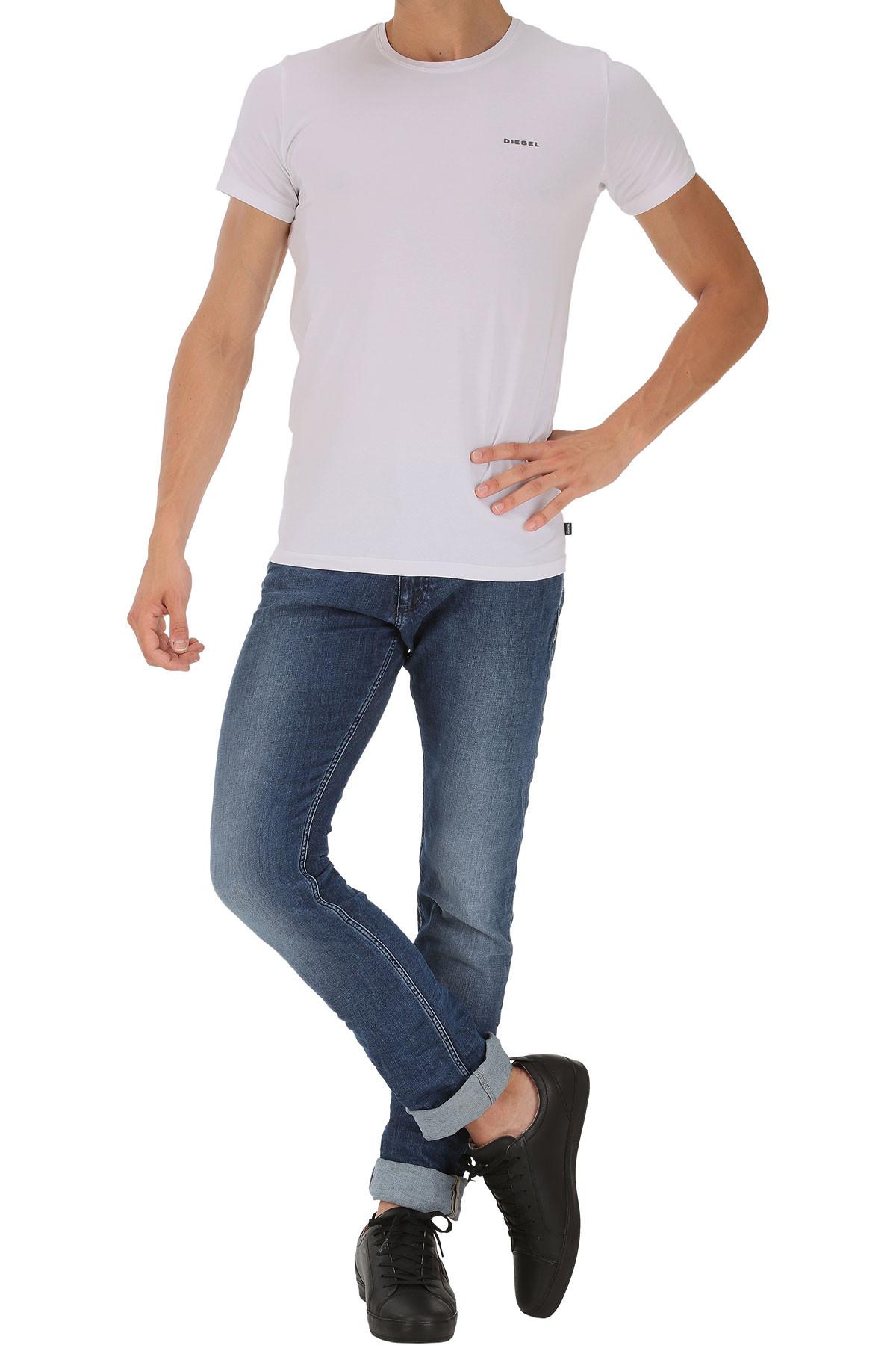 Pánské tričko Randal 3pack 00SHGV-0JAQX-100 bílá - Diesel Barva: bílá, Velikost: M