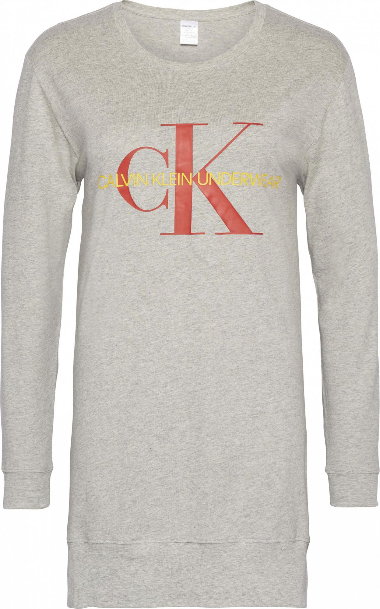 Dámské triko na spaní QS6152E-020 šedá - Calvin Klein Barva: šedá, Velikost: S